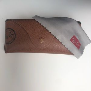 Ray Ban case brown